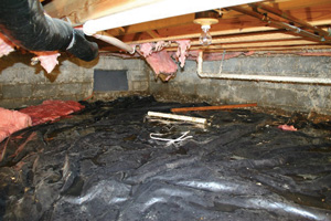 Crawl Space Repair Before in Havre