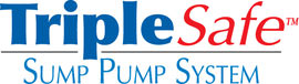 Sump pump system logo for our TripleSafe™, available in areas like Malta
