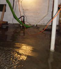 Several feet of floodwaters in a Chinook basement