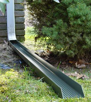 Gutter downspout extension installed in Cut Bank